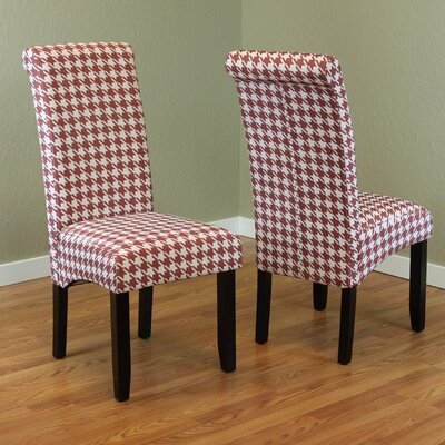 Dimmick Parsons Chair Upholstery: Red