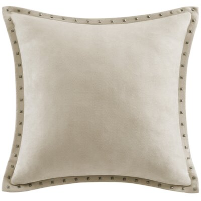 Dixmoor Stud Trim Throw Pillow Color: Tan