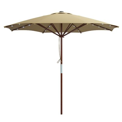 Deforge 9 Illuminated Umbrella Fabric: Taupe