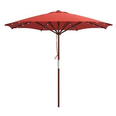 Deforge 9 Illuminated Umbrella Fabric: Red