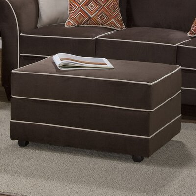 Serta Upholstery Deschamps Ottoman Upholstery: Bing Chocolate
