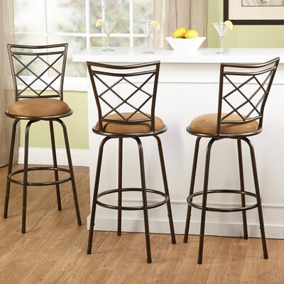 Lamoille Adjustable Height Swivel Bar Stool Finish: Brown