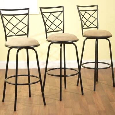 Lamoille Adjustable Height Swivel Bar Stool Finish: Black