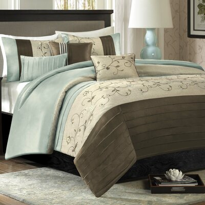Southbury 6 Piece Duvet Cover Set Size: Full / Queen, Color: Blue