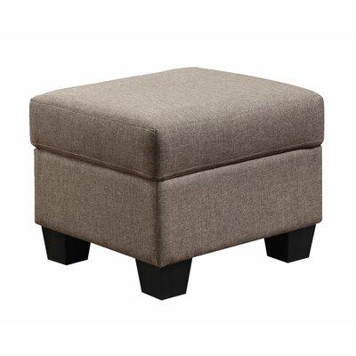 Matthew Ottoman Upholstery: Tan