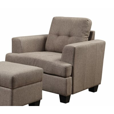 Matthew Arm Chair Color: Brown