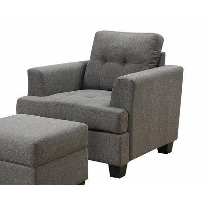 Matthew Arm Chair Color: Gray
