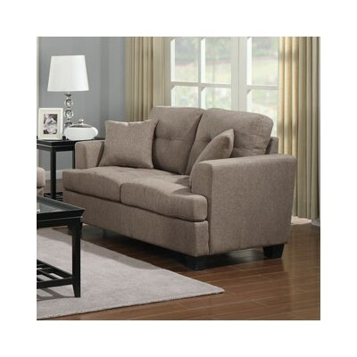 Matthew Loveseat Upholstery: Tan