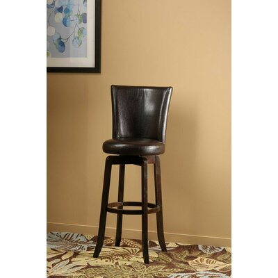 Shipyard 29.75 Swivel Bar Stool Upholstery: Brown