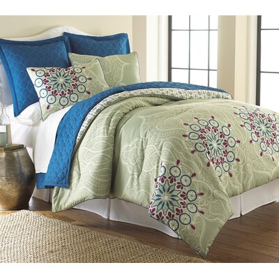 Kirklin 6 Piece Comforter & Coverlet Set Size: Queen