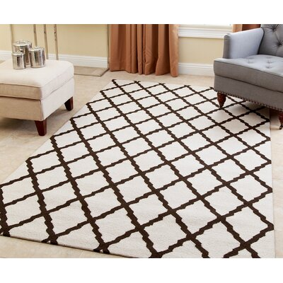 Lincoln Hand-Tufted Dark Brown Area Rug Rug Size: 3 x 5