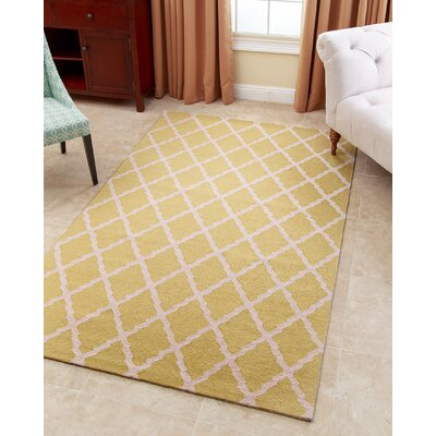 Lincoln Hand-Tufted Honeydew Green Area Rug Rug Size: 5 x 8