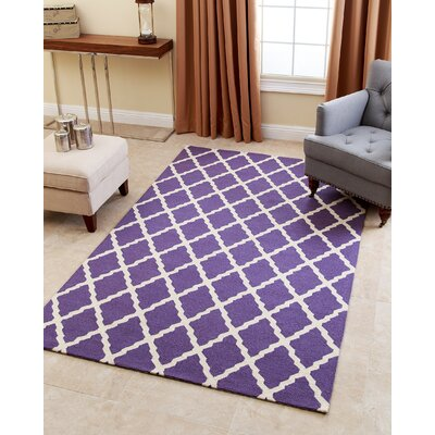 Lincoln Hand-Tufted Lavender Area Rug Rug Size: 5 x 8