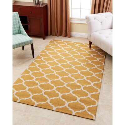 Lindenwood Hand-Tufted Yellow Area Rug Rug Size: 8 x 10