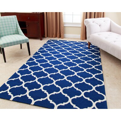 Lindenwood Hand-Tufted Navy Blue Area Rug Rug Size: 8 x 10