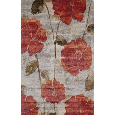 Summitville Hand-Tufted Red Area Rug Rug Size: 36 x 56
