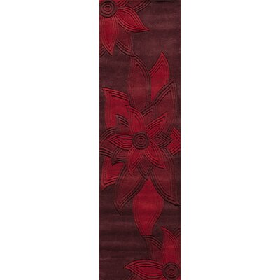 Robin Hand-Tufted Red Area Rug Rug Size: Rectangle 36 x 56