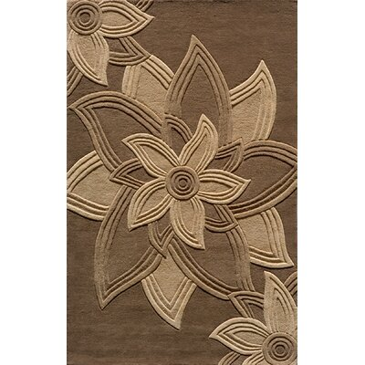 Robin Hand-Tufted Mocha Area Rug Rug Size: Rectangle 36 x 56
