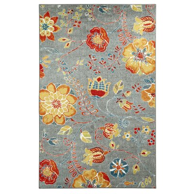 Bergen Free Spirit Gray Printed Area Rug Rug Size: Rectangle 5 x 8