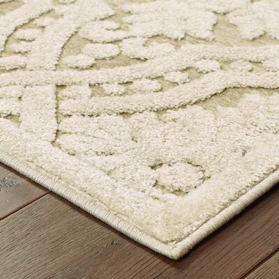 Lawanna Beige Area Rug Rug Size: Rectangle 52 x 76