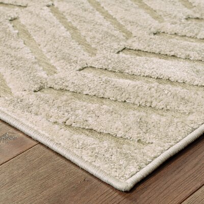 Maryport Solid Beige Area Rug Rug Size: Rectangle 710 x 109