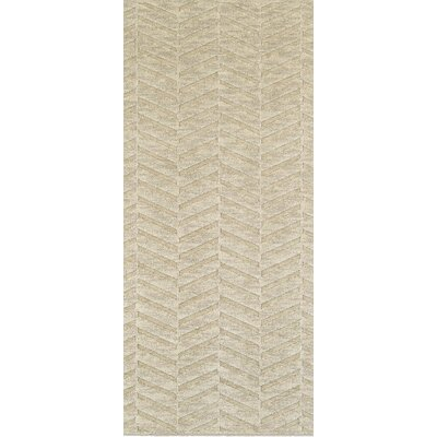 Maryport Solid Beige Area Rug Rug Size: Runner 22 x 76