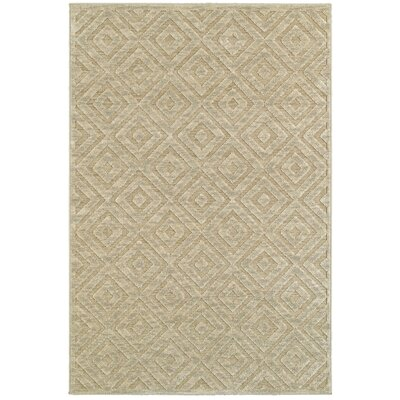 Maryport Beige Area Rug Rug Size: Rectangle 52 x 76