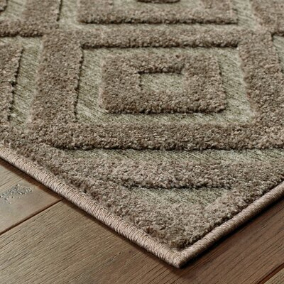 Maryport Brown/Gray Area Rug Rug Size: Rectangle 66 x 96