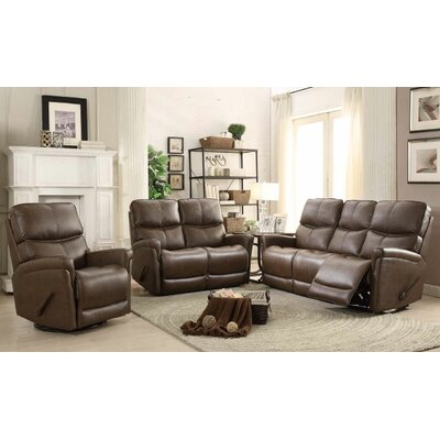Ross 3 Piece Reclining Living Room Set Upholstery: Toast