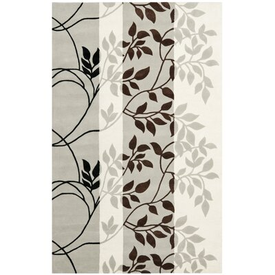 Beverly Gray / Chocolate Area Rug Rug Size: Rectangle 2 x 3