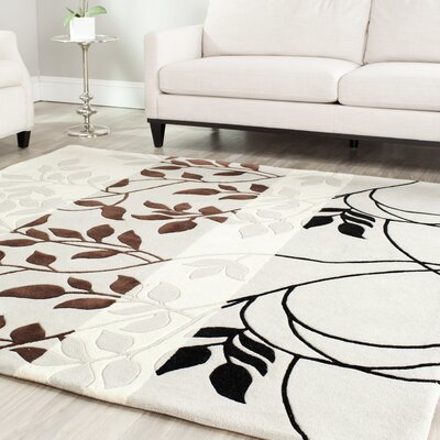 Beverly Gray / Chocolate Area Rug Rug Size: 4 x 6
