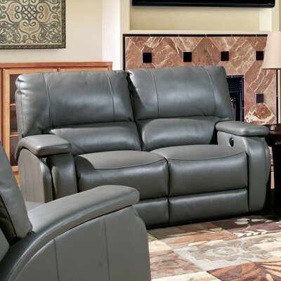 Red Barrel Studio RDBS7295 Shelburn Dual Leather Power Reclining Loveseat