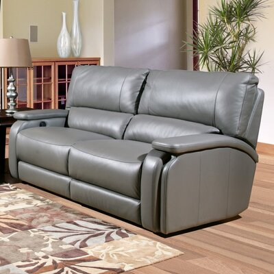 Red Barrel Studio RDBS7296 Shelburn Leather Reclining Loveseat