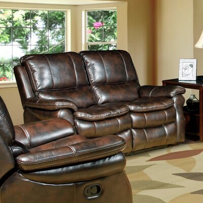 Stapleford Dual Power Reclining Loveseat Upholstery: Nutmeg