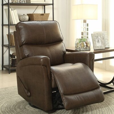 Ross Swivel Glider Recliner Upholstery: Toast