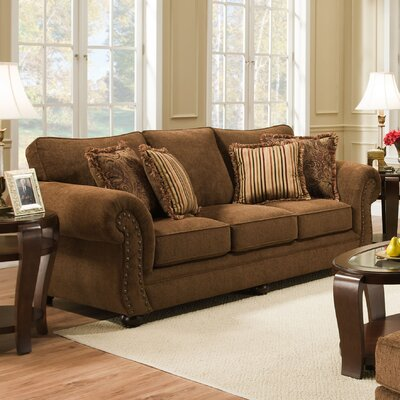 Channahon Simmons Stuart Sofa Upholstery Color: Chocolate