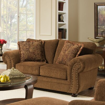 Channahon Simmons Stuart Loveseat Upholstery Color: Chocolate