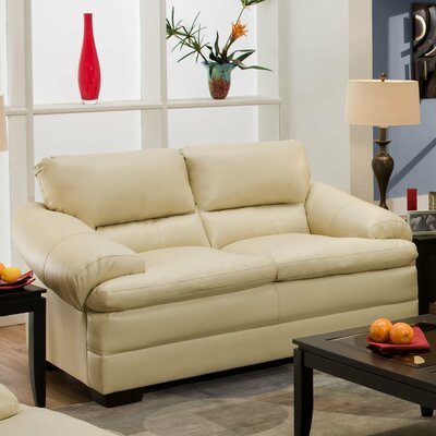 Simmons Upholstery Reynolds Loveseat Upholstery: Natural