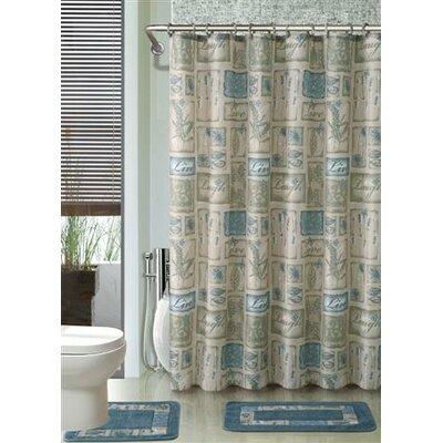 Wainwright 3 Piece Shower Curtain Set Color: Blue