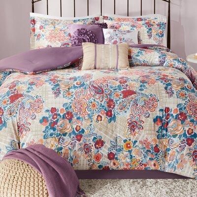 Corsica 7 Piece Comforter Set Size: King