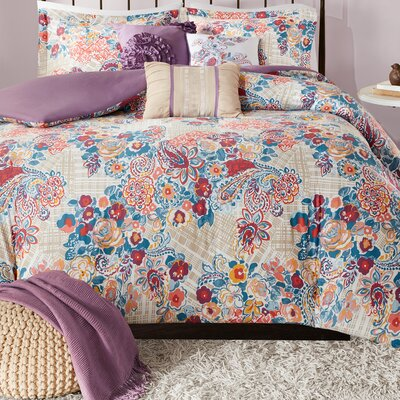 Corsica 6 Piece Duvet Cover Set Size: King/ Cal King