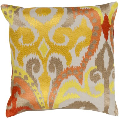 Claysburg Throw Pillow Cover Color: YellowOrange, Size: 22 H x 22 W x 0.25 D