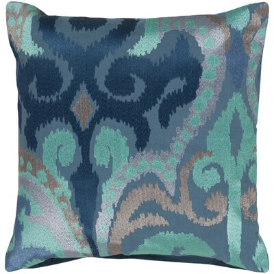 Claysburg Throw Pillow Cover Size: 22 H x 22 W x 0.25 D, Color: Blue
