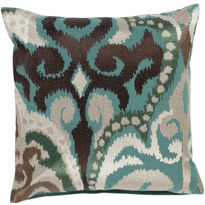 Claysburg Throw Pillow Color: Green / Brown, Fill Material: Down