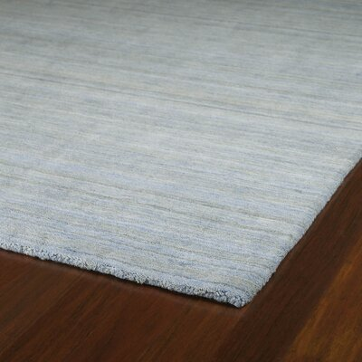 Mccabe Hand Woven Wool Azure Area Rug Rug Size: Rectangle 5 x 76