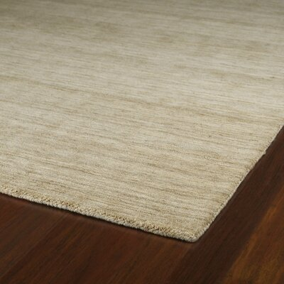 McCabe Sable Hand-Woven Wool Beige Area Rug Rug Size: Rectangle 9'6