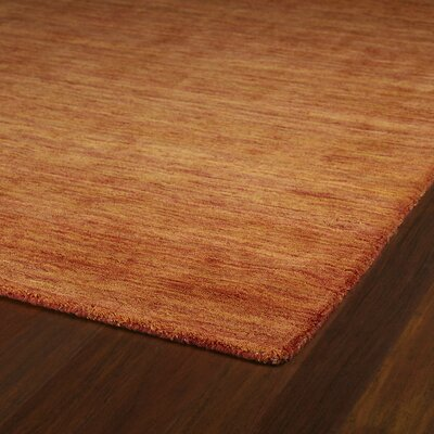 McCabe Hand-Woven Wool Orange Area Rug Rug Size: Rectangle 3 x 5