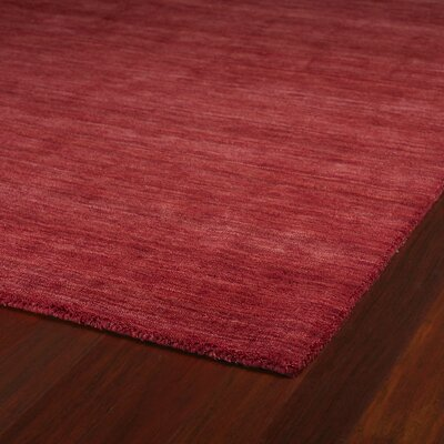 McCabe Cardinal Red Area Rug Rug Size: Rectangle 3 x 5