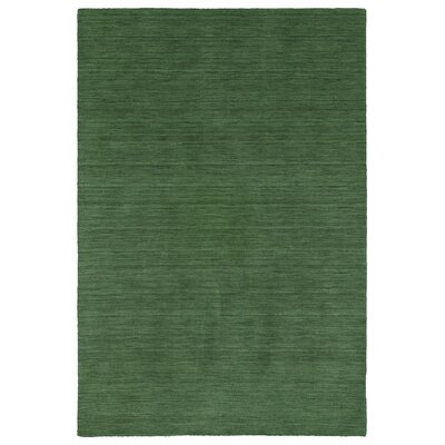 Mccabe Hand Woven Wool Emerald Area Rug Rug Size: Rectangle 76 x 9