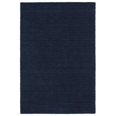 McCabe Hand-Loomed Navy Area Rug Rug Size: 3 x 5